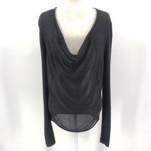 Eileen Fisher Black Tencel Sweater Large